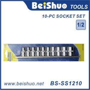 """10-PC CRV 1/2"""" Drive Standard Socket Set with Blister Card pictures & photos"""