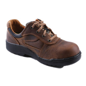 Men Crazy Horse Leather Safety Shoes