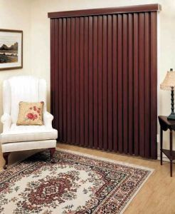 Bamboo Woven Vertical Blinds with Aluminum Headrail pictures & photos
