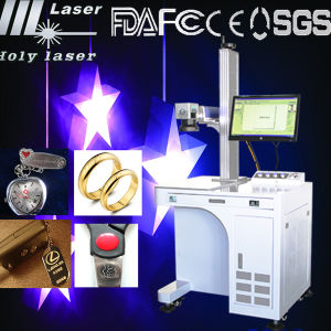 Fiber Laser Marking Machine for Rings (HS GQ-20W) pictures & photos