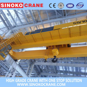 Workshop Applied Double Girder Overhead Crane with Electric Hoist Lifting Machinery pictures & photos