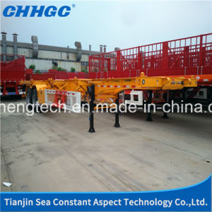 Factory Maritime Transport 30t 3 Axles Container Trailer pictures & photos