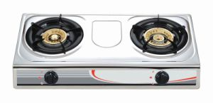 Double Burners Staniless Steel Gas Stove