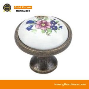 Zinc Alloy Ceramic Knob Handles/ Furniture Cabinet Pull Handle (C256 DAB-Y) pictures & photos