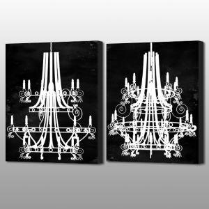 Modern Royal Crystal Pendant Lamp Inject Print Canvas Painting Modern Royal Crystal Pendant Lamp