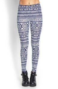 OEM Geo Tribal Print Leggings with Elasticized Waist pictures & photos