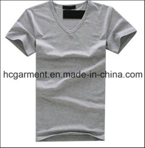 Man′s Grey T-Shirt, Cotton Sports Wear Solid Color Shirts pictures & photos