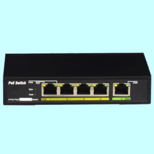 5 Port Poe Switch with 4poe and 1 Data Uplink Port Factory Price Promotion (TS0504F) pictures & photos