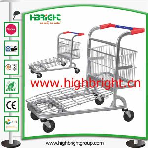 Foldable Supermarket Heavy Duty Folding Warehoue Cargo Trolley pictures & photos