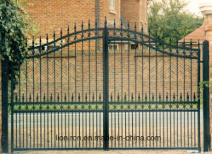 Modern Style Customized Wrought Iron Double Swing Gates pictures & photos