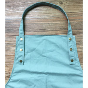 Customized High Quality Blue Cotton Work Apron for Restaurant pictures & photos