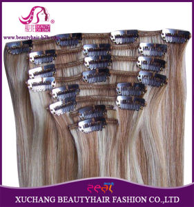 Xuchang Hair Factory 100% Remy Clip in Hair Extensions 220 Grams Loose Curly Indian Remy Clip in Human Hair Extensions pictures & photos