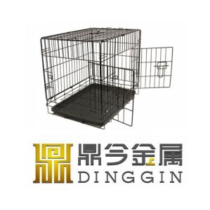 Folding Pet Kennel Dog Crate with Two Doors pictures & photos