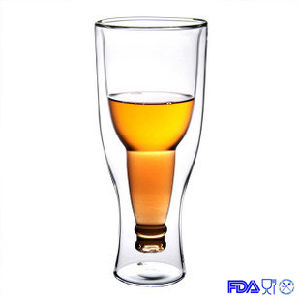 Double Wall Glass Mug, Beer Cup, Hand Blown Glass pictures & photos