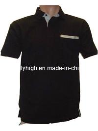 Fashion Black Polo Shirt (Polo 003) pictures & photos