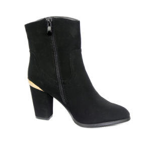Ladies Fashion Sexy Classy Black Ankle Boot pictures & photos