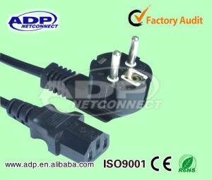 AC Power Cord European VDE Power Cord with 3 Pin Plug pictures & photos