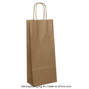 Cheap Brown Paper Bag with Handle Coffee Bag pictures & photos