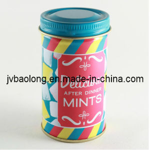 Round Tin Can Coin Tea Guft Chocolate Box (JBL80049Y)
