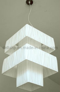 Modern Art Hanging Lamp with White Wrinkled Fabric Shade (C5006032) pictures & photos