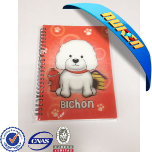 Custom Design 3D Plastic Cover Notebook pictures & photos