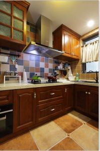 Solid Finished Natural Wood Kitchen Cabinets Home Furniture #2012-102 pictures & photos