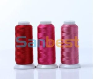 100% Colorful Rayon Embroidery Thread with High Quality for Lace pictures & photos