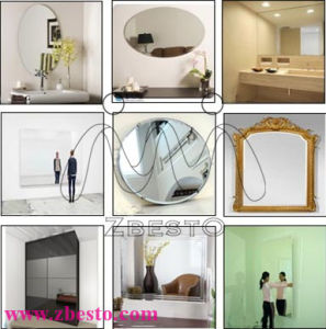 3mm-8mm Cheap Custom Made Cut Silver Aluminum Mirror Sheet pictures & photos