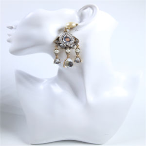 New Design Crystal Stone Pearl Point Earring Necklace Fashion Jewelry pictures & photos