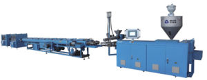 High Speed 20-63mm HDPE PPR Double-Strand Extrusion Line pictures & photos
