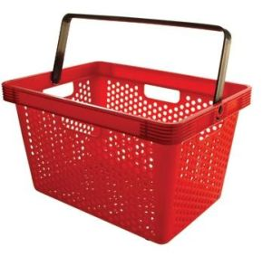 Supermarket Deluxe Small Hole Single Handle Plastic Shopping Basket (YD-B5) pictures & photos