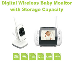 Wireless Baby-Sitting Monitor with Recording Function