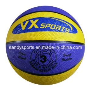Promotional Customized Logo Rubber Ball Basketball in Bulk pictures & photos