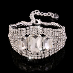 Stainless Steel Jewelry Crystal Bracelet
