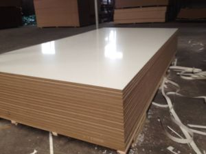 White and Wood Colour Laminated MDF pictures & photos