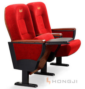 Wooden Series with China Red Fabric Steel Legs Theater Seat pictures & photos