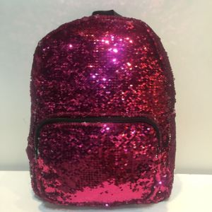2017 Hot Reversible 2 Colors Sequin Paillette Party Study Backpack pictures & photos