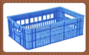 High Quality PE Plastic Injection Turnover Storage Basket for Warehouse pictures & photos