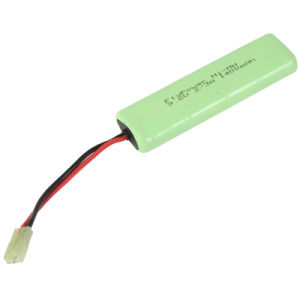 9.6V 2/3A1400mAh Ni-MH High Power Rechargeable Battery Pack for Airsoft Gun (8S of FH-2/3A1400P)
