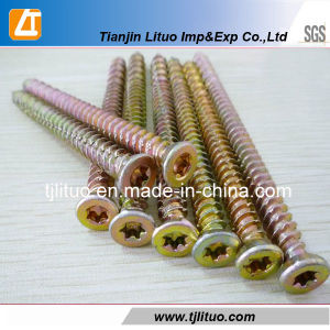 Carbon Steel Yellow Zinc Torx-30 Concrete Screws pictures & photos