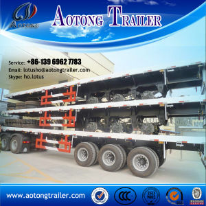 40FT Flatedbed Container Semi Trailer with Twist Locks for Sale pictures & photos
