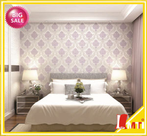 Hot Selling Simple Italy Designs PVC Wallpaper for Bedroom Decor pictures & photos