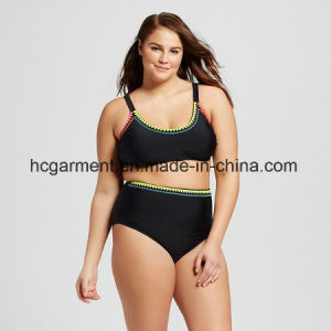 Large Size Swimsuit for Lady, Plus-Size One-Piece Swimming Wear pictures & photos