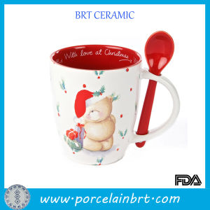 Endearing Beer Pattern Christmas Mug with Red Spoon pictures & photos
