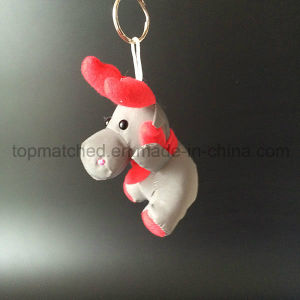 Xmas Red scarf Moose Reflective Safety Toy Hanger for Bag pictures & photos