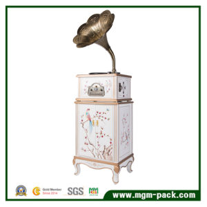 Antique Wooden Gramophone with Colored Drawing pictures & photos