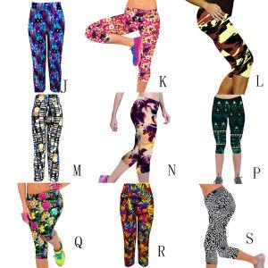 Women Capri Yoga Running Sport Short Pants Cropped Leggings Fitness Trouser pictures & photos
