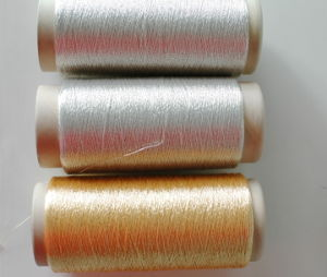 600d Cotton or Viscose Pure Gold and Silver Yarn (S-46A S-131)) pictures & photos