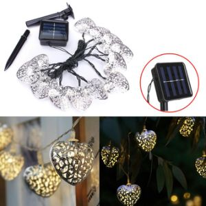 12 LED Heart Moroccan Fairy Solar String Lantern Light Lamp pictures & photos