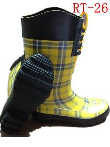 Women Rubber Rain Boot (RT-26) pictures & photos